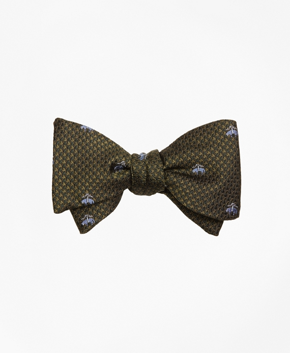 Golden Fleece® Houndscheck Bow Tie Green