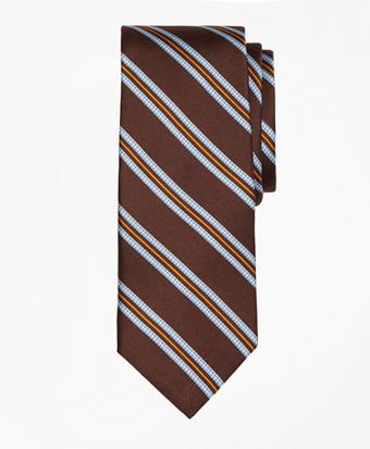 Houndstooth Stripe Print  Tie