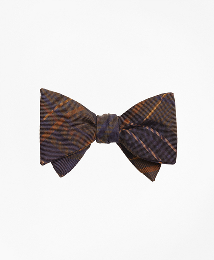 Ancient Madder Plaid Print Bow Tie