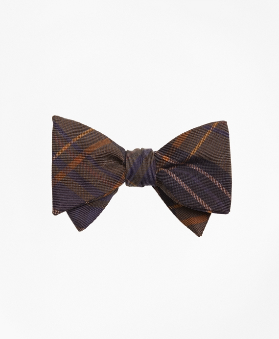 Ancient Madder Plaid Print Bow Tie