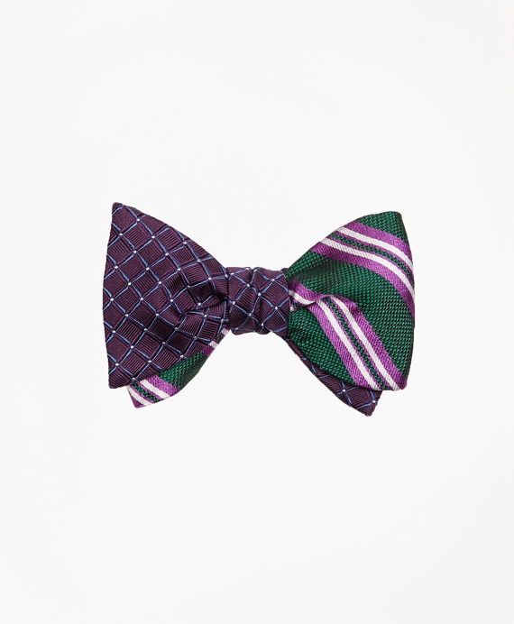 Framed Parquet with Natte Double Stripe Reversible Bow Tie