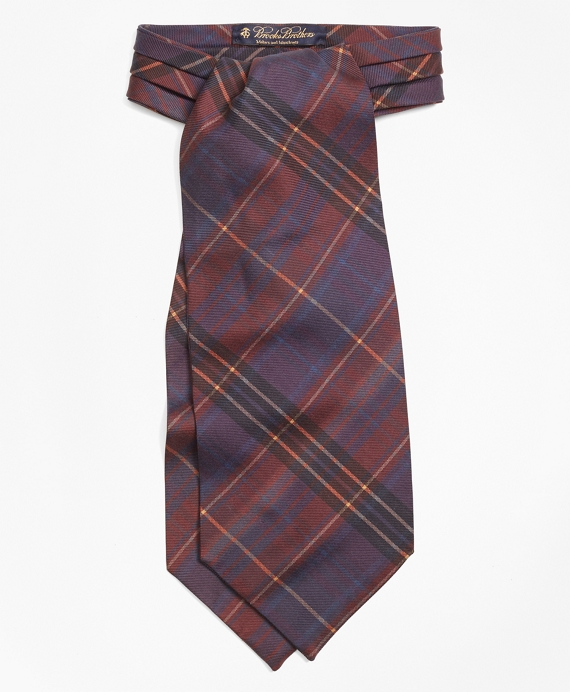 VictorianMen8217sClothing Ancient Madder Plaid Ascot $160.00 AT vintagedancer.com