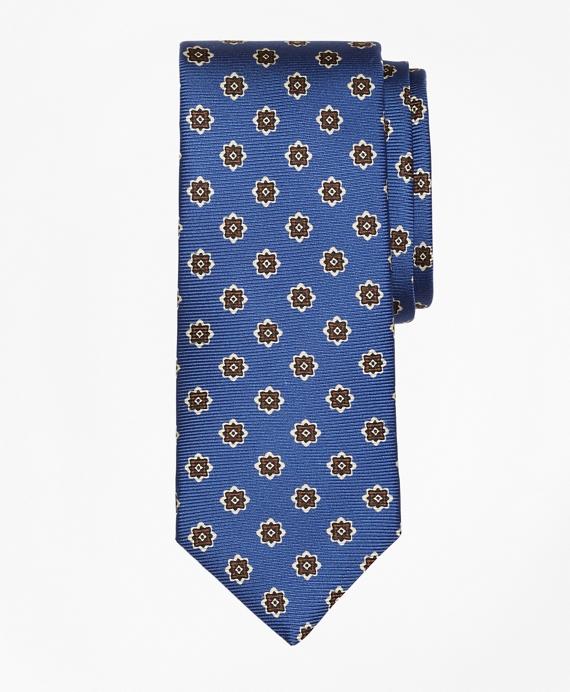 Medallion Print Tie Blue