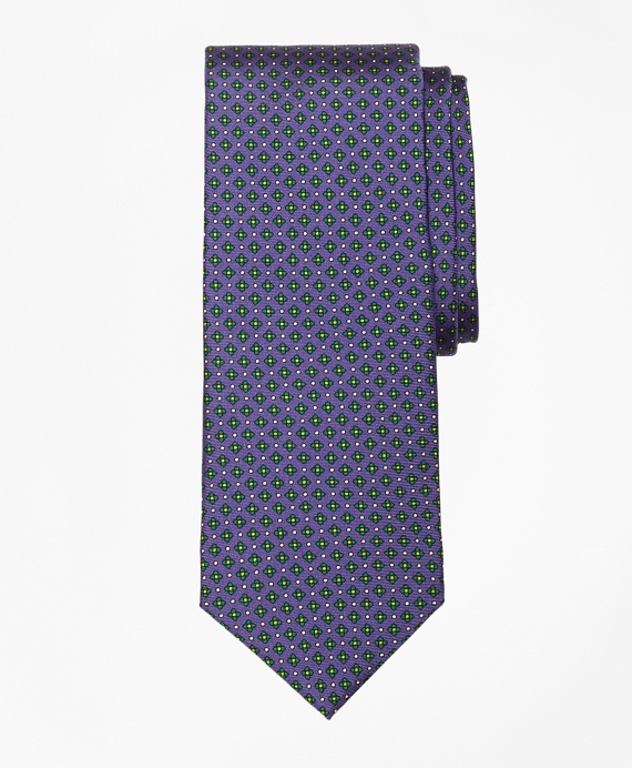 Mini Multi-Flower Print Tie Purple