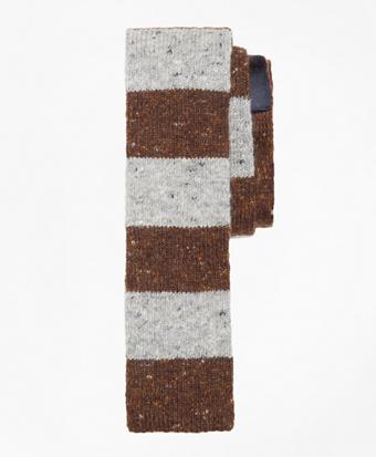 Melange Rugby Stripe Knit Tie