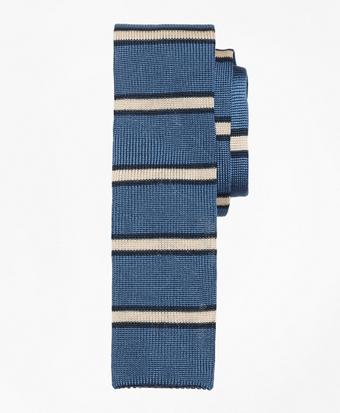 Framed Stripe Knit Tie