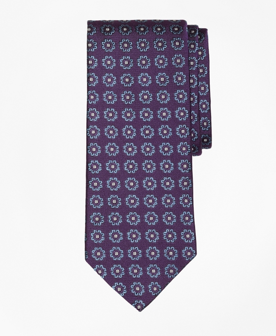 Spaced Floral Tie Purple