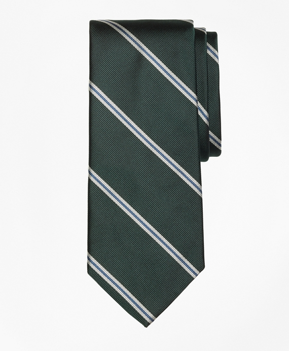 Spaced Bar Stripe Tie Green