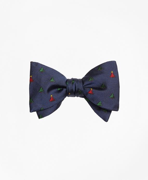 Christmas Tree Bow Tie Navy