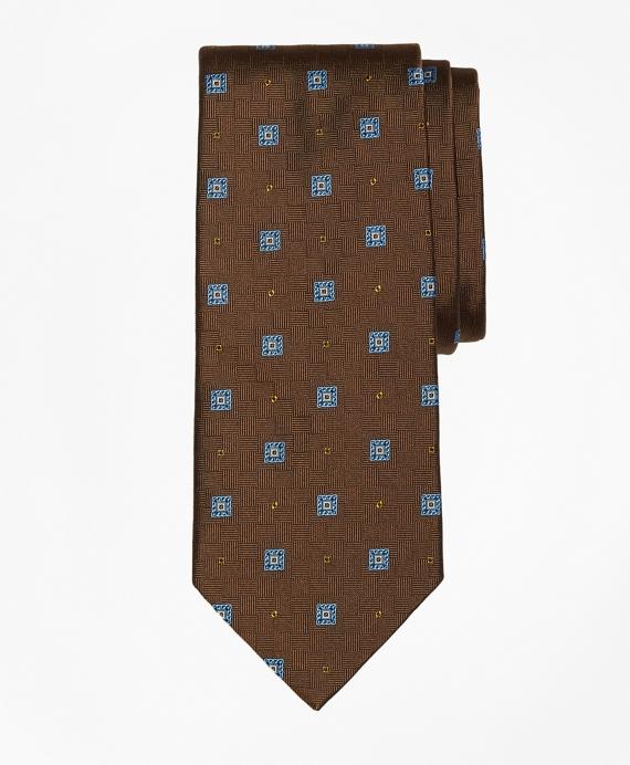 Parquet Square Medallion Tie