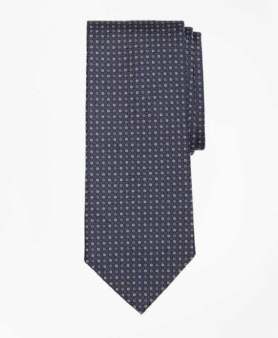 Solid-Non-Solid Square Tie Navy