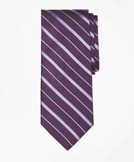 Alternating Bar Split Stripe Tie