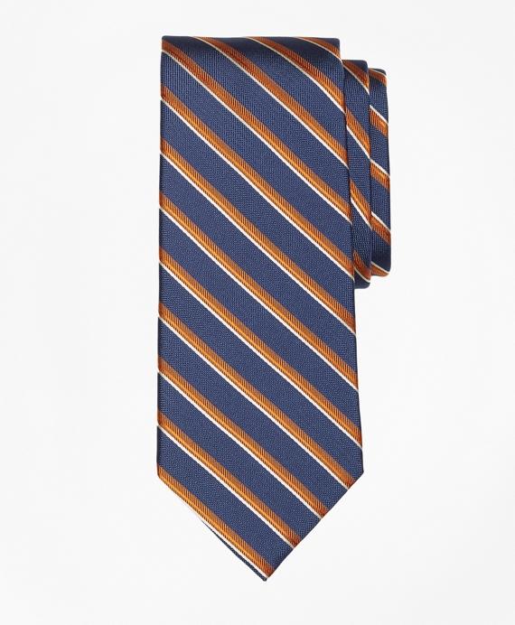 Double Sidewheeler Stripe Tie Blue