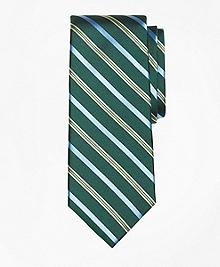 Tonal Alternating Split Stripe Tie
