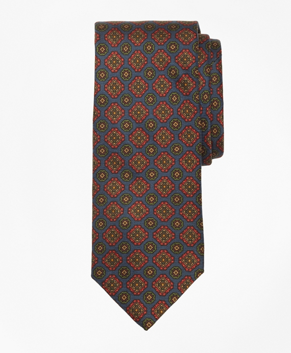 Ancient Madder Medallion Tie Navy
