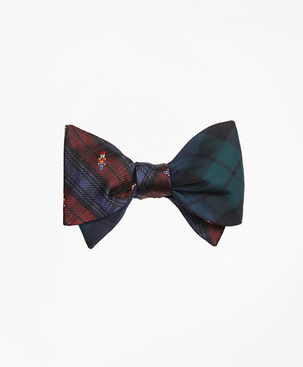 Nutcracker with Black Watch Reversible Bow Tie