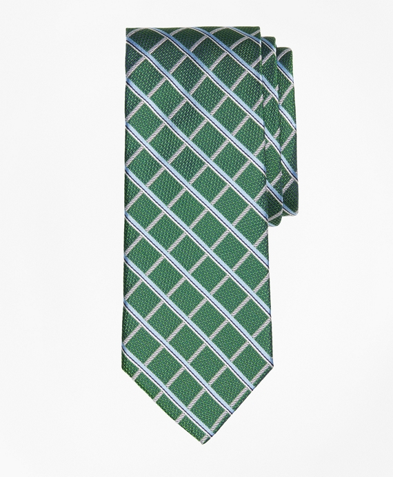 Textured Windowpane Tie