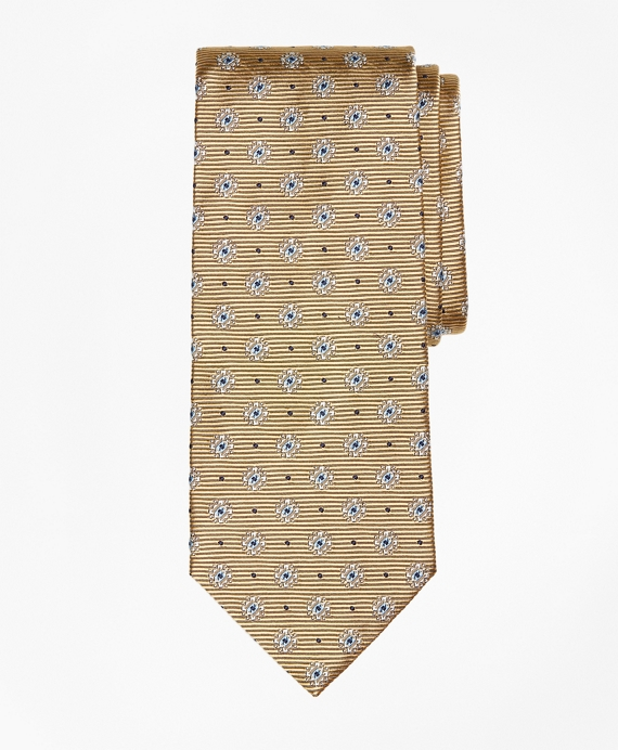 Framed Diamond Medallion Tie