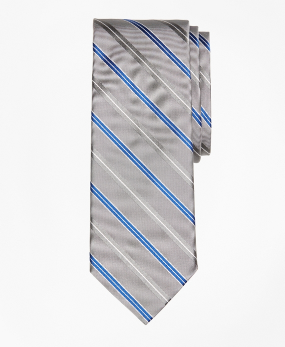 Alternating Split Double Stripe Tie
