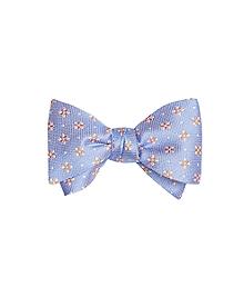 Textured Four-Petal Flower Bow Tie