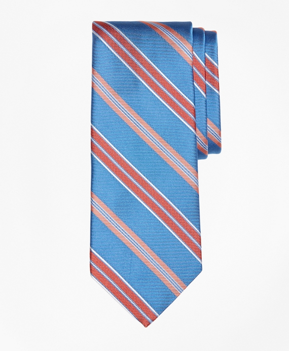 Alternating Textured Fame Stripe Tie