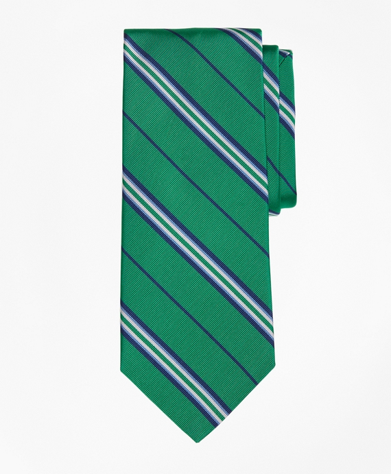 Triple Framed Alternating Stripe Tie