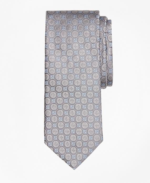 Tonal Medallion Flower Tie