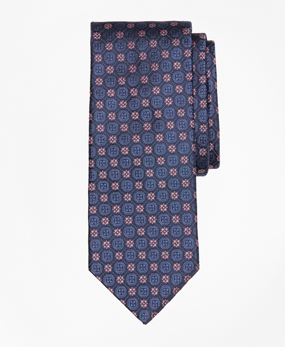 Tonal Medallion Flower Tie