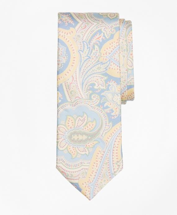 Paisley Print Tie Blue