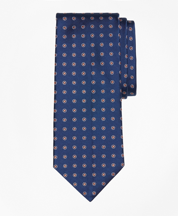 Framed Polka Dot Tie Navy