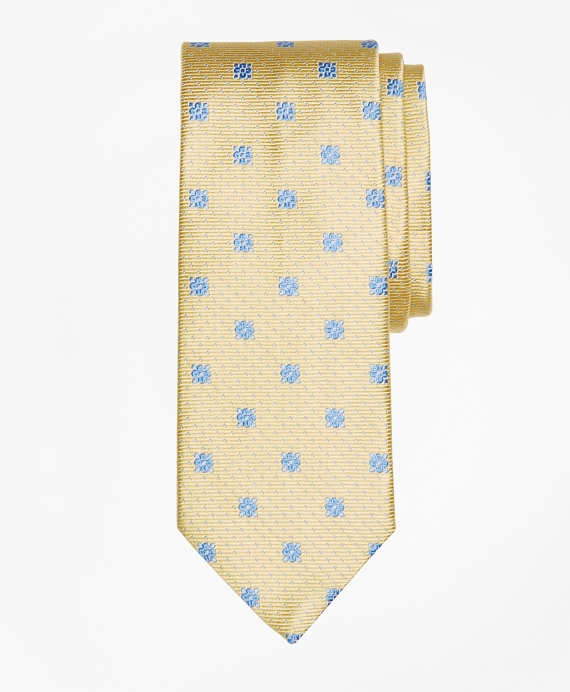 Flower and Mini-Dot Tie Yellow