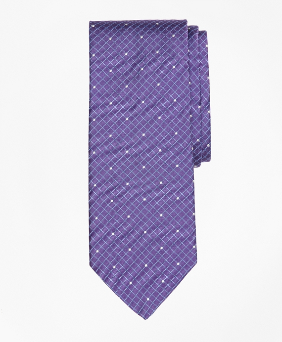 Windowpane Dot Tie Purple