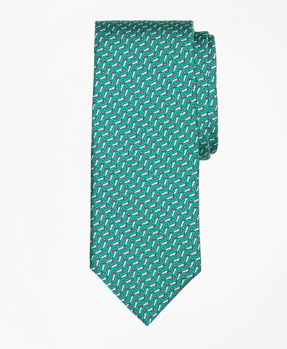 Windboard Print Tie Teal