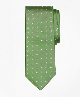 Mini-Dot and Flower Tie