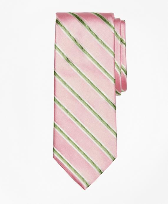 Alternating Rope Stripe Tie Pink