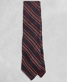 Golden Fleece® Navy and Burgundy Plaid Tie
