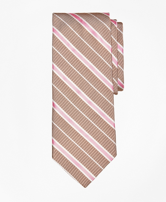 Textured Ground BB#2 Stripe with Pinstripe Tie Tan