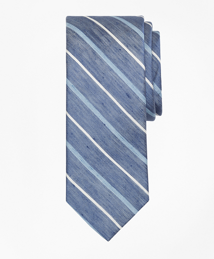 Linen Thick and Thin Stripe Tie