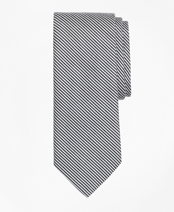 Chain Stripe Tie Black-White