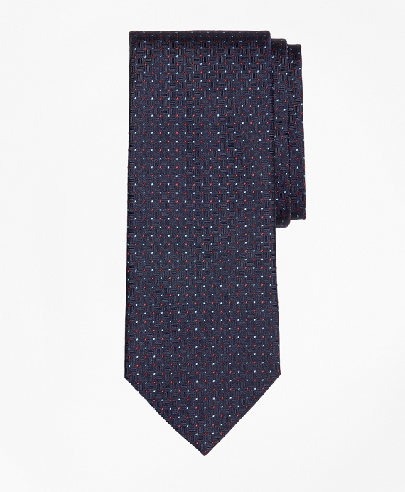 Parquet Alternating Dot Tie Navy