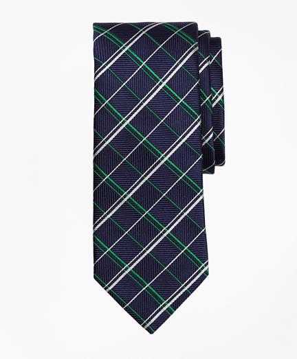 Double Alternating Windowpane Tie