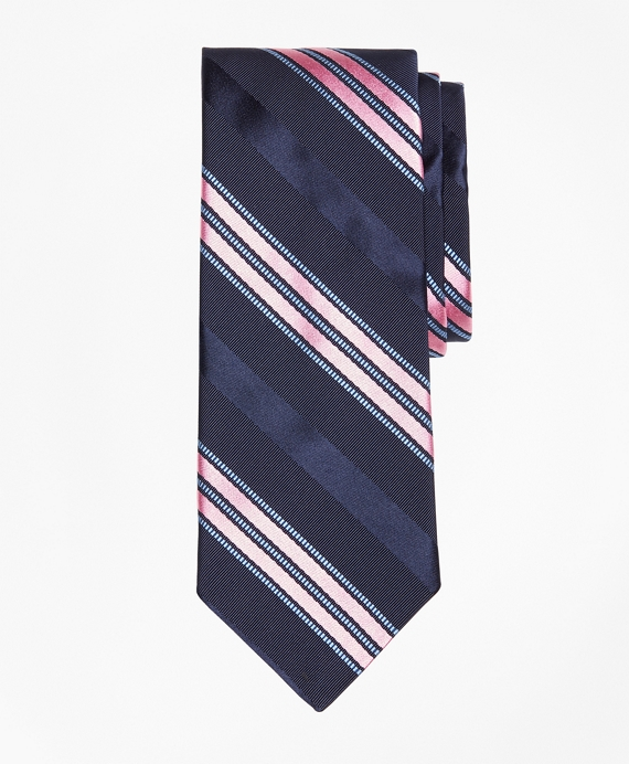 Satin Ribbed Stripe Tie