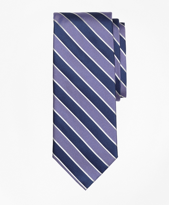 Framed Alternating Stripe Tie