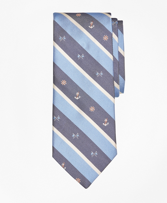 Nautical Stripe Tie Blue
