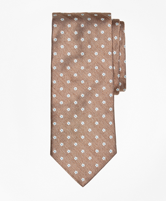 Herringbone Ground Flower Tie