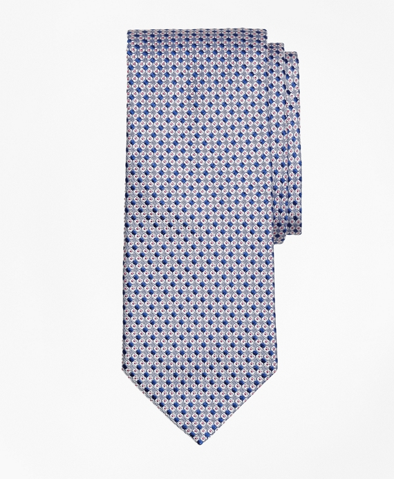 Square and Dot Tie Navy