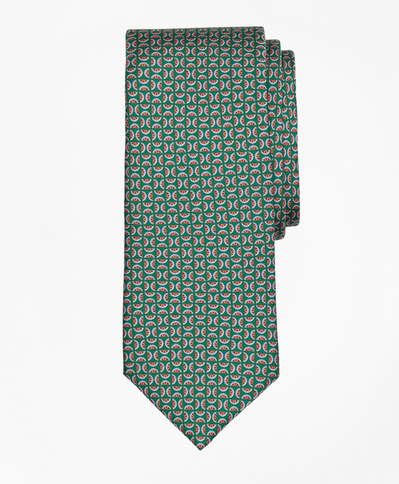 Watermelon Motif Print Tie Green