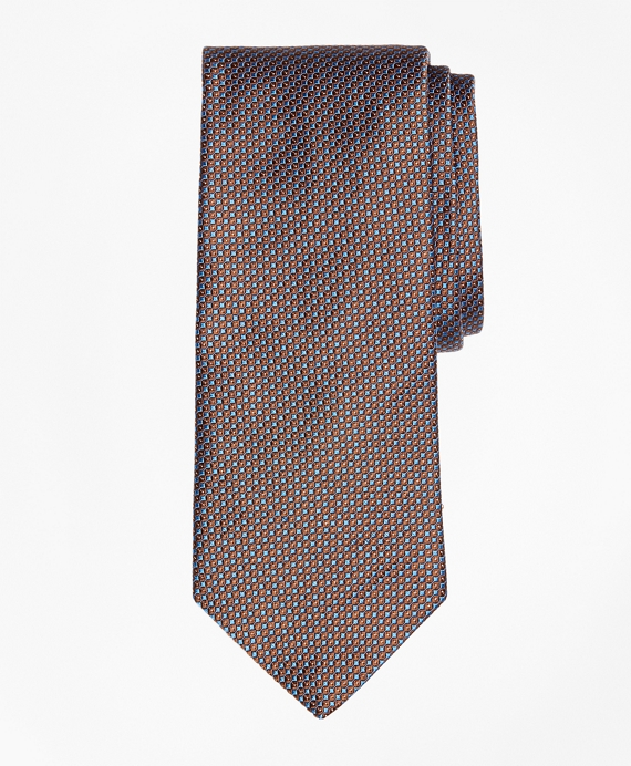 Mini Circle Dot Tie Brown