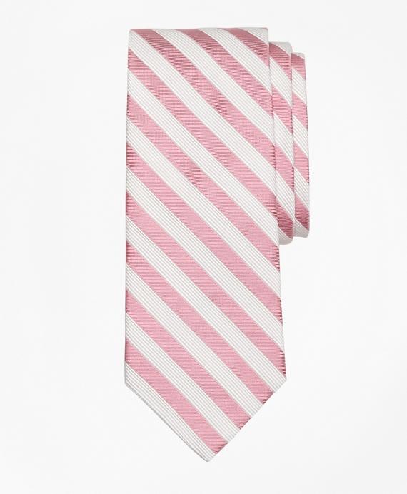 Satin Music Stripe Tie Pink
