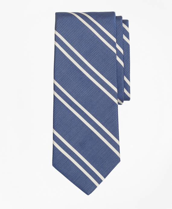 Double Stripe Tie Blue